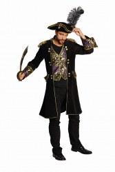 Karneval Herren Kostüm Piraten Mantel Deluxe