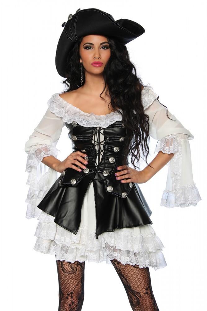 Damen Kostüm Piratin : karneval damen kost m piratin schwarz faschingskram ~ Frokenaadalensverden.com Haus und Dekorationen