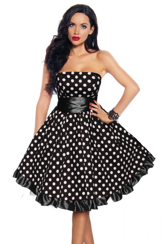 Damen kleid abiballkleid sixties rockabilly faschingskram - Rockabilly outfit damen ...