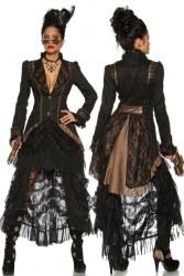 Karneval Steampunk Damen Mantel