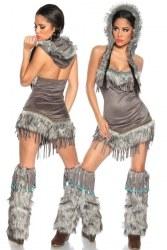 Karneval Damen Kostüm Sexy Indianerin