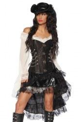 Damen Corsage Piratin Steampunk