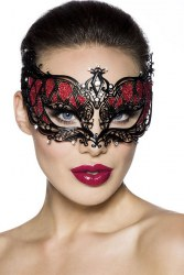 Karneval Damen Maske rot
