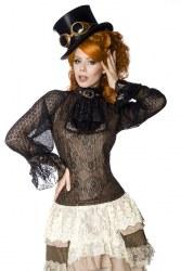 Damen Steampunk Bluse