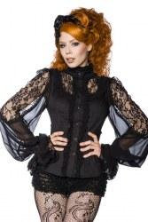 Damen Steampunk Gothic Bluse