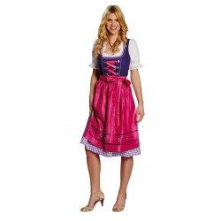 Oktoberfest Damen Kostüm Dirndl lila pink