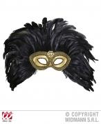 Widmann Karneval Augen Maske Gold