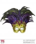 Widmann Karneval Augen Maske Inka