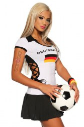 Damen Fussball Kleid