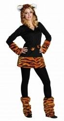 Karneval Damen Kostüm Kuschel Tiger