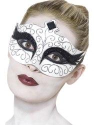 Karneval Halloween Augen Maske Gothic Schwarzer Schwan