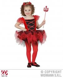 Karneval Halloween Mädchen Kostüm BALLERINA TEUFELCHEN