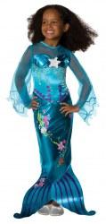 Karneval Mädchen Kostüm Meerjungfrau Blue Magical
