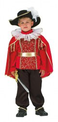 Karneval Kinder Jungen Kostüm Roter Prinz