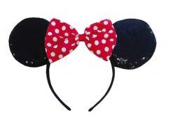 Disney Minnie Mouse Maus-Ohren mit Pailletten und Schleife
