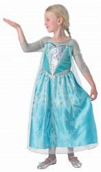 Karneval Kinder Mädchen Kostüm Elsa Premium