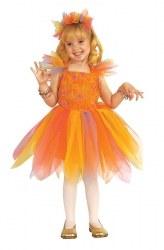 Karneval Mädchen Kostüm Orangen Fee