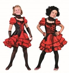 Karneval Mädchen Kostüm Tänzerin Saloongirl