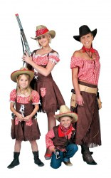 Karneval Mädchen Kostüm Cowgirl Denise