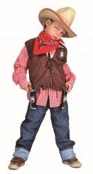 Karneval Jungen Weste Cowboy