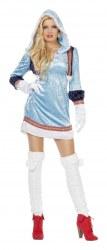 Karneval Damen Kostüm Eskimo blau