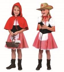 Karneval Mädchen Kostüm Rotkäppchen Cowgirl