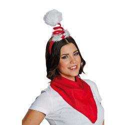 Weihnachts-Mütze Haarreif Spirale