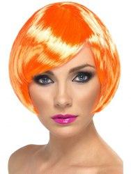 Karneval Damen Perücke Babe orange