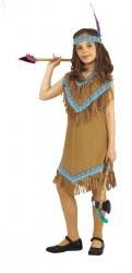 Karneval Mädchen Kostüm Indianerin Kuru
