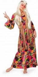 Karneval Damen Kostüm Hippie lang