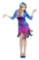 Karneval Damen Kostüm Krake Tintenfisch