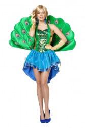 Karneval Damen Kostüm Luxus Pfau