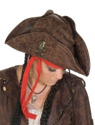 Karneval Hut Pirat Lederoptik