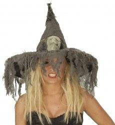 Karneval Halloween Hexenhut Totenkopf