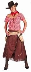 FUNNY FASHION Karneval Damen Kostüm Western COWGIRL DIANA