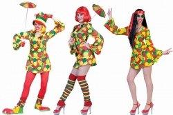 Karneval Damen Kostüm HIPPIE CLOWN