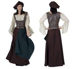 Karneval Damen Kostüm Mittelalter Bäuerin