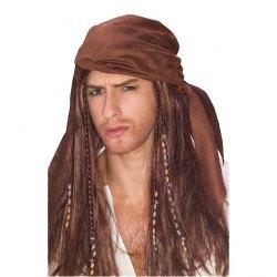 Karneval Herren Perücke Karibischer Pirat