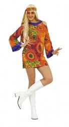 Karneval Damen Kostüm Sexy Hippie