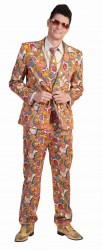 Karneval Herren Kostüm Hippie-Anzug
