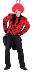 Karneval Herren Kostüm Marienkäfer-Jacket mit Kravatte