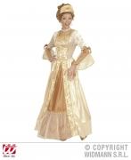 Karneval Damen Kostüm GOLD PRINZESSIN