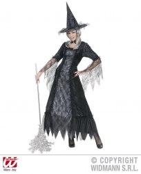 Karneval Halloween Damenkostüm Hexe Spiderweb