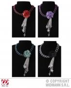 Karneval Halloween Halsband mit GOTHIC BLUME Farbwahl