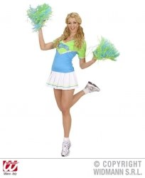 Widmann Karneval Damenkostüm Cheerleader blau