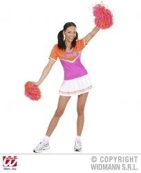 Widmann Karneval Damenkostüm Cheerleader pink