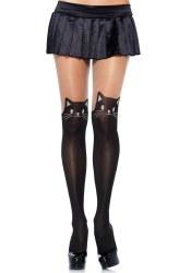 Leg Avenue Damen Strumpfhose Schwarze Katze