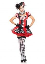 Leg Avenue Karneval Damen Kostüm Harlekin Clown