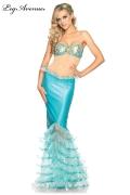 Leg Avenue Karneval Damen Kostüm Meerjungfrau SIRENE