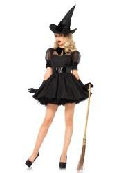 Karneval Halloween Damen Kostüm Hexe Bewitch